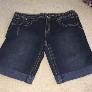 Dark Bermuda shorts
